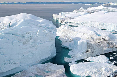Amazement Photograph - Jakobshavn Isbrae Glacier, Ilulissat by Daisy Gilardini