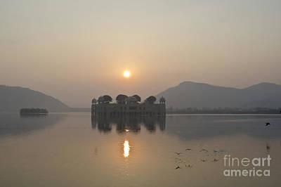 Jal Mahal In Sunrise Art Print