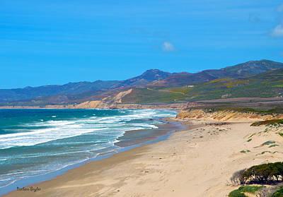 California Landscape Art Digital Art - Jalama Beach Santa Barbara County California by Barbara Snyder