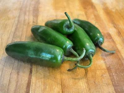 Photograph - Jalapenos by Michelle Calkins