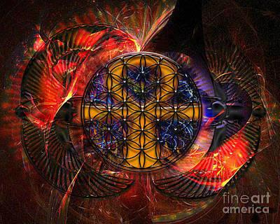 Pleiades Digital Art - Jaliel by Mynzah Osiris