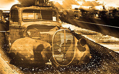 Expensive Photograph - Jalopy In Brown by Michael DeBlanc