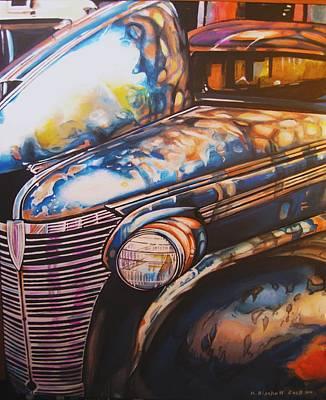Jalopy Art Print by Kathleen Bischoff