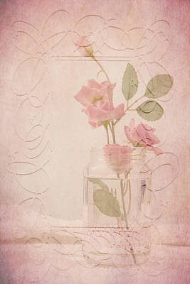 Jam Jar Roses  Art Print