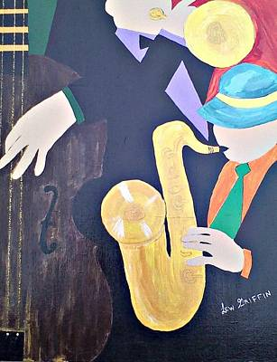 Painting - Jam Session by Lew Griffin