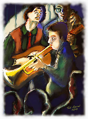 Art Print featuring the digital art Jam Session by Ted Azriel