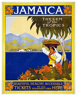 Caribe Painting - Jamaica - The Gem Of The Tropics - Thomas Cook Travel Poster - 1910 by Pablo Romero
