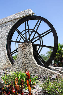 Photograph - Jamaica Water Wheel by RobLew Photography