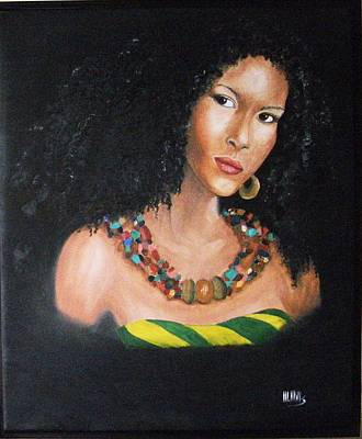 Painting - Jamaican Beauty by Maria Mills