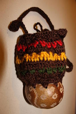 Jamaica Mixed Media - Jamaican Coconut And Crochet Shoulder Bag by MOTORVATE STUDIO Colin Tresadern
