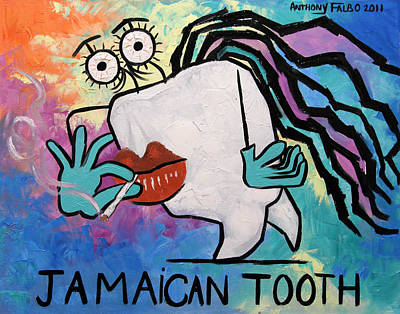 Jamaican Tooth Art Print by Anthony Falbo