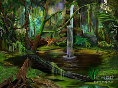 Jambalaya Painting - Jambalaya Jungle by Frances McCloskey