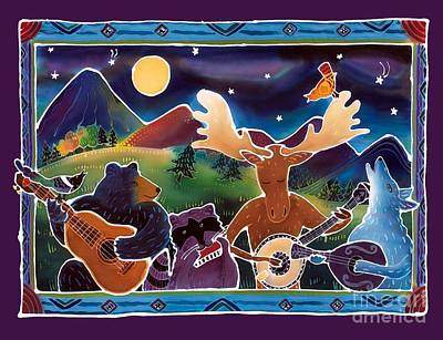 Coyote Painting - Jamboree by Harriet Peck Taylor
