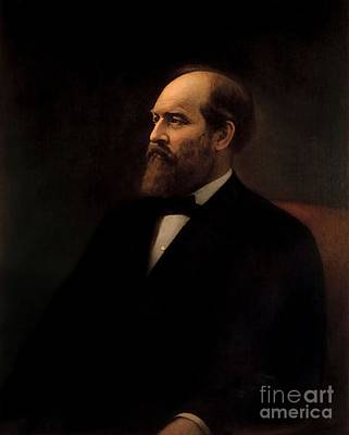 Calvin Painting - James A Garfield by Calvin Curtis