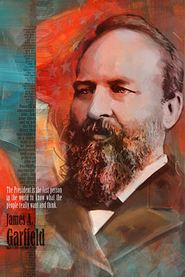 Politicians Royalty-Free and Rights-Managed Images - James A. Garfield by Corporate Art Task Force