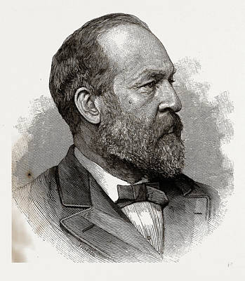 James A. Garfield, President-elect Of The United States Art Print by Litz Collection