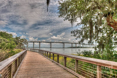 Photograph - James B Edwards Bridge by Dale Powell