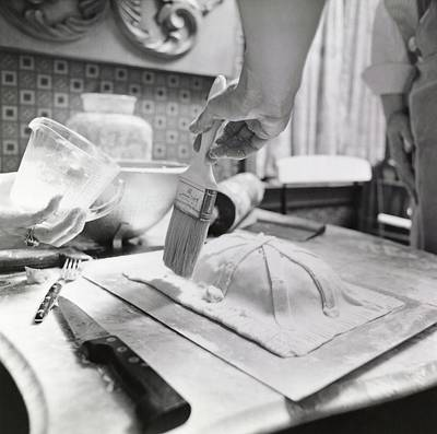Teaching Photograph - James Beard Basting Pastry by Ernst Beadle