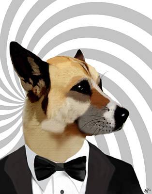 James Bond Dog Art Print