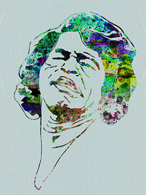 Irish Rock Band Painting - James Brown by Naxart Studio