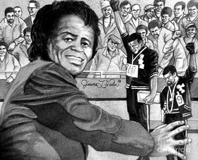 Jazz Painting - James Brown by JL Vaden