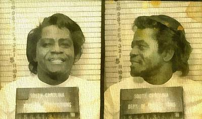 James Brown Mug Shot Art Print