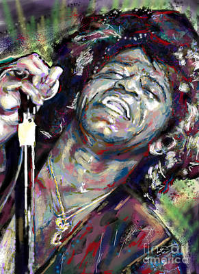 Brown Art Mixed Media - James Brown Painting by Ryan Rock Artist