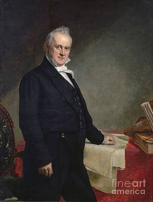 Healy Painting - James Buchanan by GPA Healy