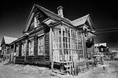 Old West Photograph - James Cain House by Cat Connor