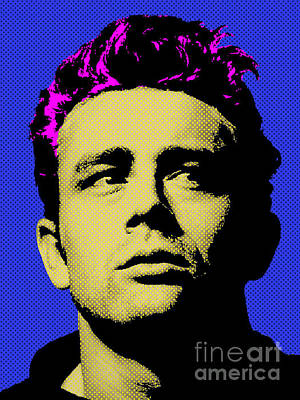 Actors Royalty-Free and Rights-Managed Images - James Dean 002 by Bobbi Freelance