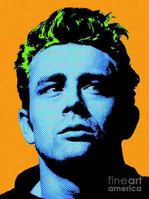 Actors Royalty-Free and Rights-Managed Images - James Dean 004 by Bobbi Freelance