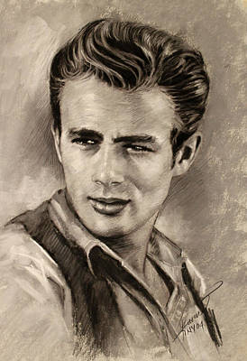 Drawing - James Dean by Viola El