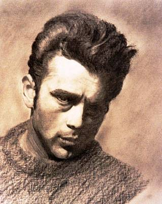Drawing - James Dean by Derrick Parsons