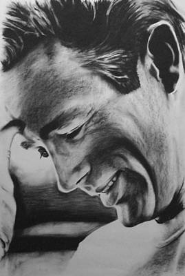 James Dean Drawing - James Dean by Jimmy Chard