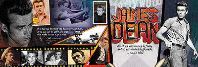 James Dean Panoramic Art Print