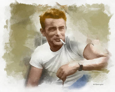 Digital Art - James Dean by Paulette B Wright