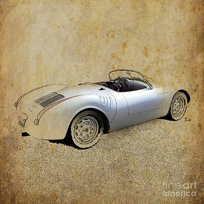 James Dean Porsche 550 Spyder Art Print