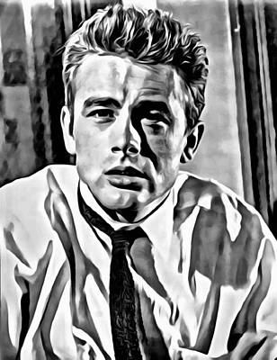 James Dean Photograph - James Dean Portrait by Florian Rodarte