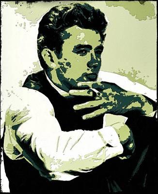 Painting - James Dean Poster Art by Florian Rodarte