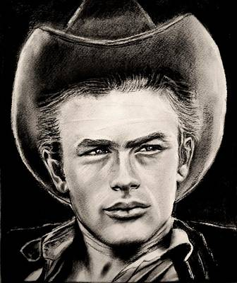 James Dean Drawing - James Dean by Sandy Dournayan