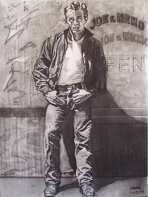 Drawing - James Dean by Sean Connolly