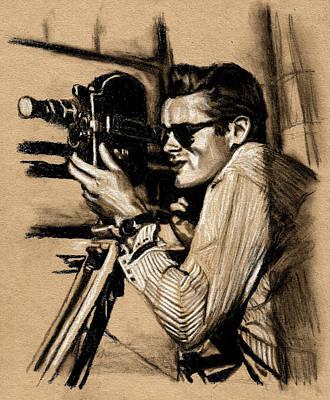 James Dean Drawing - James Dean by Teresa Beveridge