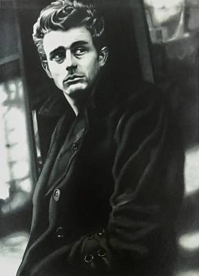 Drawing - James Dean The American Icon by Carl Baker