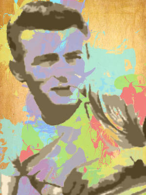 Digital Art - James Dean Watercolor by Paulette B Wright