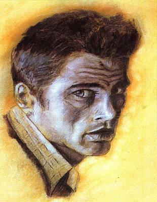 James Dean Drawing - James Dean by Ellsbeth Page