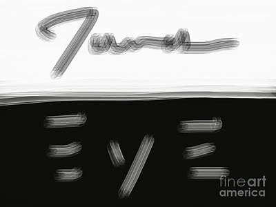 Digital Art - James Eye B/w by James Eye