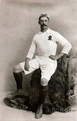Photograph - James Frederick Byrne English Cricketer And International Rugby Player C1905 by Unknown