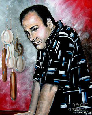 Art Print featuring the painting James Gandolfini As Tony Soprano by Patrice Torrillo