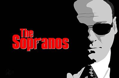 Tony Soprano Drawing - James Gandolfini As Tony Soprano by Paul Dunkel