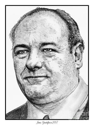 Drawing - James Gandolfini In 2007 by J McCombie